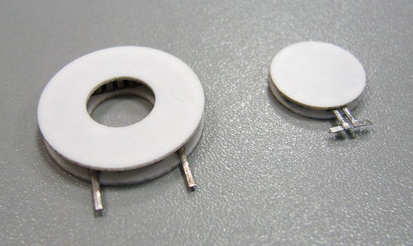 Round thermoelectric coolers